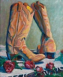 Red Roses for a Boot Lady